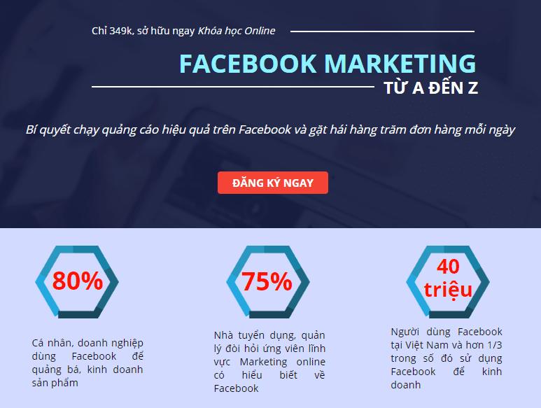 Giảm 40% FACEBOOK MARKETING TỪ A ĐẾN Z