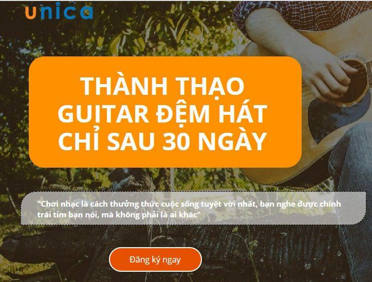 Giảm 60% THÀNH THẠO GUITAR ĐỆM HÁT TRONG 30 NGÀY