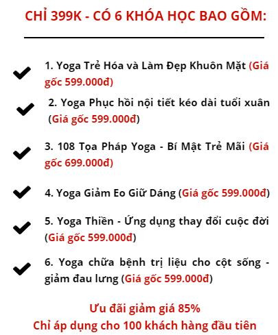 Giảm 2.600.000 Yoga Nguyễn Hiếu